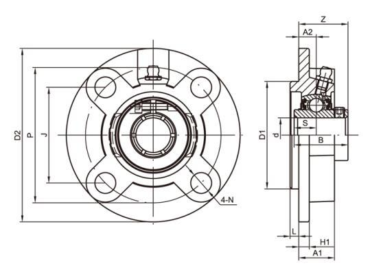 凸台圆形座 UCFCS2